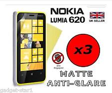 3x HQ MATTE ANTI GLARE SCREEN PROTECTOR COVER LCD FILM GUARD FOR NOKIA LUMIA 620