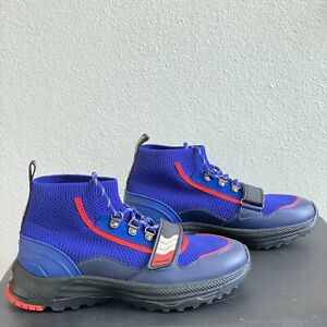 Coach C243 One Strap Runner High Top Blue Luxury Sneaker G4681 Retail $295 New