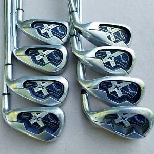 Callaway X18 Iron Set 4-PW Uniflex Shafts Steel RH Good Grips  NICE CLUBS
