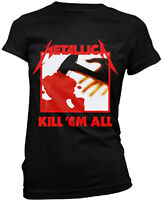 METALLICA Kill Em All WOMENS GIRLIE T-SHIRT OFFICIAL MERCHANDISE