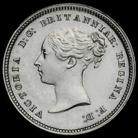 1872 Queen Victoria Young Head Silver Maundy Fourpence, A/UNC