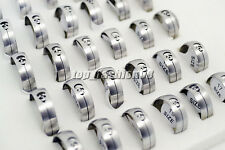 Wholesale Jewelry Lots 10pcs Stainless steel Skull Silver Rings free shipping