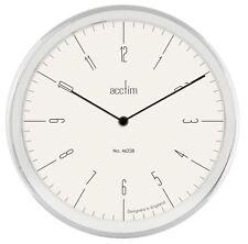 "Acctim Evo 12"" Wall Clock Chrome Effect Gloss Metal & White Dial"