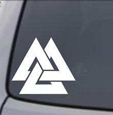 VALKNUT ODIN NORSE GOD VIKING SYMBOL Vinyl Decal Sticker Car Back Window Bumper