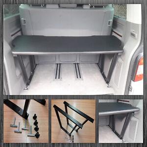 VW T5 & T6 Multivan Multiflexboard Bettverlängerung Ablage H :53cm Kunstleder D1