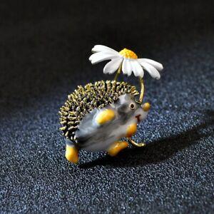 Australian Souvenir Echidna Hedgehog Flower Novelty Brooch Gift Dress Accessory