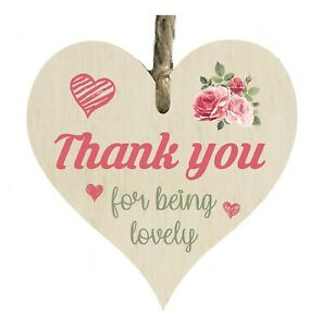 Thank You For Being Lovely Quote Friends Wooden Novelty Plaque Sign Gift htc43