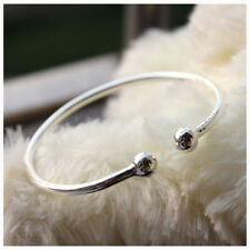 1X 20CM Fashion Cuff Bangle European Beaded Charm Bracelet Jewellery Gift
