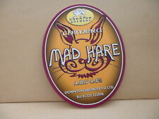 Downton Brewery Mad Hare Ale Beer Pump Clip face Bar Collectible 56