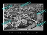 OLD LARGE HISTORIC PHOTO OF BATH SOMERSET ENGLAND, VIEW OF THE TOWN c1950 3