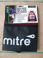 Mitre Deluxe Zippered Back Pack - New- Sports and/or School