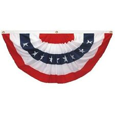 5' x 10' PATRIOTIC AMERICAN FLAG BUNTING - Rugged 2 Ply Polyester