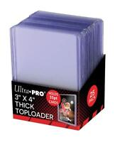 (25) Ultra Pro Thick 55pt Toploaders Action Packed Topload Card Holders 3x4