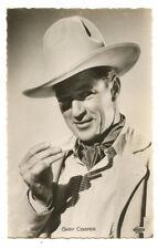 1930s Vintage Film movie star GARY COOPER cowboy French photo postcard