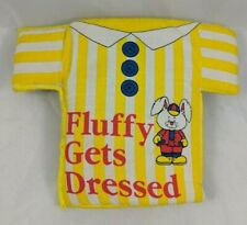 Buttontales: Fluffy Gets Dressed Cloth Book 1993 Ellen Voeickers Mahoney Stuffed