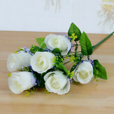 7 Head Artificial Silk Fake Rose Flowers Floral Wedding Bouquet Home Party FA3