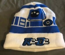 STAR WARS R2D2 Winter Hat Kids Youth White Blue Great Condition