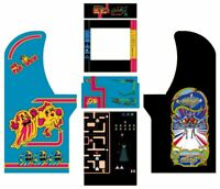 Arcade1up Arcade Cabinet Graphic Decal Complete Kits - Ms Pac-Man/Galaga