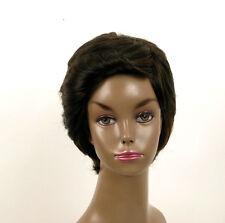 perruque afro femme 100% cheveux naturel carré méchée noir/cuivré LAET 05/1b30