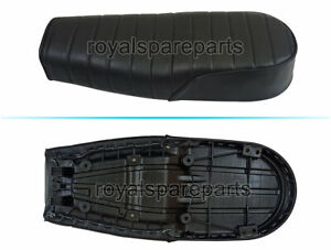 Royal Enfield GT & Interceptor 650 Genuine Leather Dual Seat Black D12