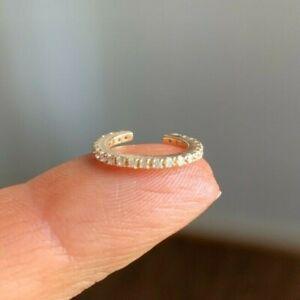 14K yellow gold Diamond Ear Cuff / not pierced / appraised $500