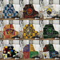 Harry Potter 3D Digita Printed Throw Blanket Plush Sofa Bed Fleece Blanket Gift