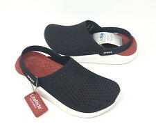 CROCS  LITERIDE CLOGS Mens size 10, 13 BLACK, Red, White  >> NEW <<
