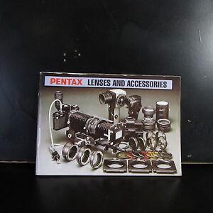 PENTAX Smc M Lentille & Accessoires Photographie Livre Guide B00125
