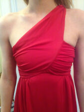 Super Sexy H&M Designer Maxi Gown; One-Shoulder; Red; Size 6; Eur 36; Poly