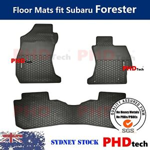 All Weather Rubber Car Floor Mats for Subaru Forester SJ 2014-2018