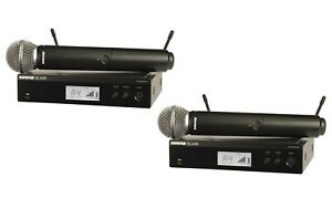 2PK Shure BLX24R/SM58-J10 Handheld Wireless System With SM58 Microphone Demo
