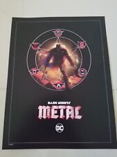 "DARK NIGHTS METAL PROMO PRINT 10"" x 13"" POSTER LITHOGRAPH LITHO DC REBIRTH"