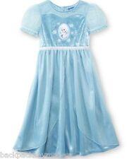 Disney FROZEN Elsa Nightgown NEW Girl's 3T Pretty Blue Costume Dress Pjs Pajamas