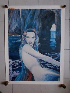"""Milo Manara  """"  Partenope """" ,  Signée au Crayon ( 80 x 60 cm )"""