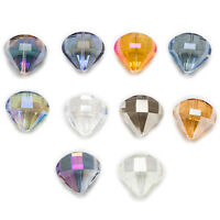 5 Piece Parachute Cut Faceted Crystal Glass Spacer Beads Jewelry Making 20x18mm