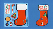 15 Make Your Own Christmas Holiday Stocking Stickers - Party Favors - Rewards