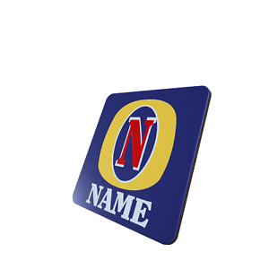 Personalised Fosters style Coaster, single, 2 pack or 4 pack