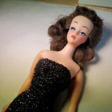 Vintage 1960's Ideal Brunette Mitzi Doll With Dress