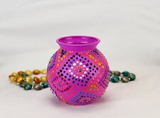HANDMADE VASE FOR HOME DECOR FAMILY GIFT FOR HER DECORATIVE GARDEN PINK CRAFT