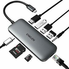USB C Dock station 9 in 1 4K HDMI, Ethernet Dock, 100W Power Delivery, 2 USB 3.0