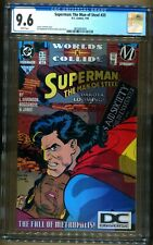 SUPERMAN TMOS 35 DC LOGO VARIANT CGC 9.6 1ST STATIC IN DC CONTINUITY COLLIDE