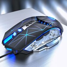Pro Gaming Mouse 3200DPI Adjustable Silent Mouse Optical LED USB Wired Computer