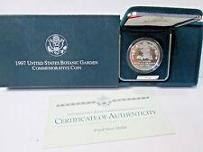 1997 Botanic Garden Proof Silver Dollar Commemorative Coin Set