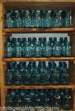 One (1) Vintage Blue Ball Perfect Mason QUART Jar w/ Zinc Lid - Weddings! Crafts