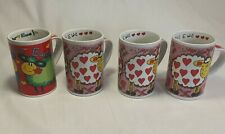4 Pack I Love Ewe Ceramic Coffee Tea Cups Mugs Valentines Day Gift Colourful