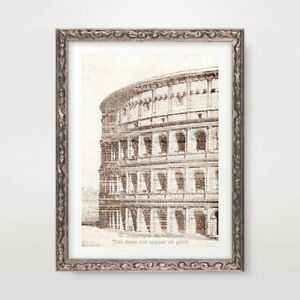 ROME COLOSSEUM ARCHITECTURAL DRAWING ART PRINT Poster Vintage Decor Classical