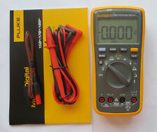 FLUKE 17B+ F17B+ Auto Range Digital Multimeter Meter AC/DC/Diode/R/F/Temp/Cap
