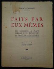 LEFEBVRE: Fairs par eux-mêmes / 1939