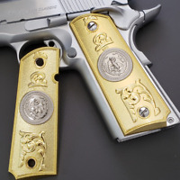 For Colt 1911 Grips Gold Plated Eagle Full Size 1911 Government, Commander