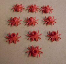 Lego 10 Spinnen rot Spinne Tiere Zubehör Spider red spiders Insulaner Neu